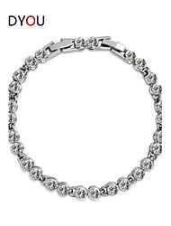 Women's Chain/Tennis/Round Bangles Bracelet Cubic Zirconia/Alloy/18K Gold Plated Crystal/Rhinestone/Cubic Zirconia