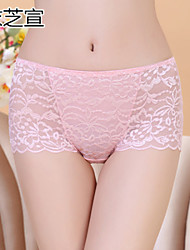 Women Ultra Sexy Panties/Shaping Panties , Lace/Bamboo Carbon Fiber/Modal Panties