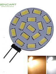 Focos LED Decorativa SENCART MR11 G4 7W 15 SMD 5730 550-650 LM Blanco Cálido / Blanco Fresco DC 12 / AC 12 / AC 24 / DC 24 V 1 pieza