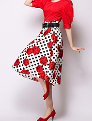 ICED™Women's Fashion Slim  Print Skirt