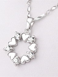 Necklace Pendant Necklaces Jewelry Party / Daily / Casual Silver / Sterling Silver Silver 1pc Gift
