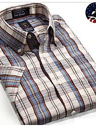 U&Shark Casual&Dress Men's 100% Fine Cotton Short Sleeve Shirt  by American Wahsing/Dmsx-015
