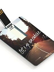 8gb Allons dans un endroit design card lecteur flash USB