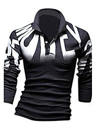 Lance Men's Casual Shirt Collar Long Sleeve T-Shirts
