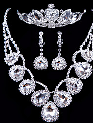 Shine Ladies'/Women's Alloy Wedding/Party Jewelry Set With Rhinestone