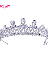 Neoglory Jewelry Round Clear Austrian Rhinestone Tiara Crown Hair Accessories for Lady/Bridal Wedding Pageant