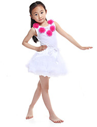 Performance Outfits Women's Performance/Training Chiffon/Cotton White Kids Dance Costumes