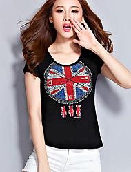 Women's White/Black/Gray T-shirt Short Sleeve