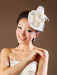 Women Satin/Feather Flowers With Imitation Pearl Wedding/Party Headpiece