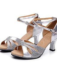 Sapatos de Dança ( Azul/Verde/Prateado/Dourado ) - Mulheres - Não Personalizável - Latim