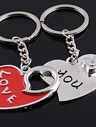 Wedding Keychain Favor [ Pack of 2Piece ] Non-personalised with Valentine's Day Heart