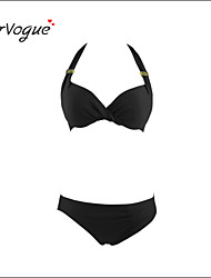 Burvogue Women's Diving Suit Material-neoprene Bikini Set Swimsuit Swimwear