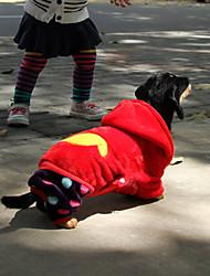 Winter - Rood Fleece - Hoodies / Broeken - voor honden - L / M / S / XL / XXL