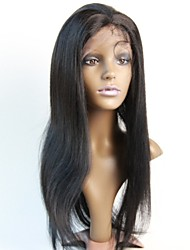 Women Lace Front Wig 10inch~20inch India Hair Color(#1 #1B #2 #4)Yaki straight hair
