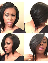 Fashion 10-24Inch Brazilian Virgin Hair Bob Straight Natural Color Human Hair Lace Front Wig& Full Lace Wigs