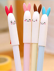 Lindo Rabbite Patrón Negro Gel Ink Pen (colores aleatorios)