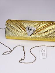 Handbag Faux Leather Evening Handbags European and American Fashion Joker Long Drill with Chain Handbag Party Bag
