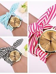 2015 newGeneva Fashion Watches Women Dress Watch Wristwatch Girl Bow Cloth Strap