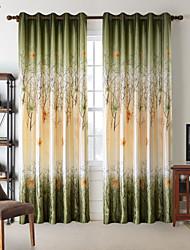 (Un panneau) feuilles vertes de printemps chambre Darking rideau