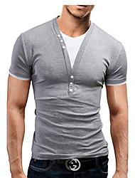Hugo Men's Casual Pan Collar Short Sleeve T-Shirts