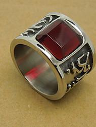 Men's Ruby Drill Titanium Ring