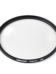 mengs® close-up filtro x4 com moldura de alumínio para canon nikon sony Olympus e Fujifilm pentax