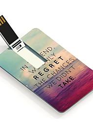 16gb de kansen we hebben ontwerp kaart usb flash drive niet te nemen