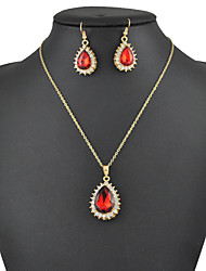 Women's European and American fashion major suit Earrings Necklace Set(1 set)8586-8