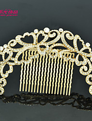 Neoglory Jewelry Hair Combs Accessories with Clear Rhinestone for Lady/Bridal/Pageant/Daily