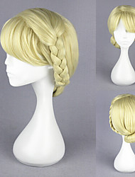 12inch Short Frozen-Elsa Yellow Stnthetic Anime Cosplay Wig