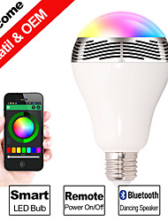 ampoule E27 100-240V besteye®3w Bluetooth à puce LED multi-couleur LED avec haut-parleur sans fil Bluetooth