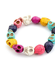Lucky Star Women's Fashion Colorful Skull Bracelet