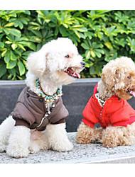 Mäntel für Hunde Rot / Braun Winter XS / S / M / L / XL Baumwolle