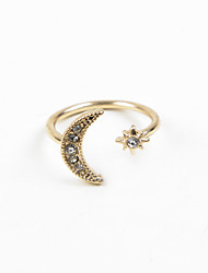 Fashion Women Sun & Moon Open Adjustable Ring