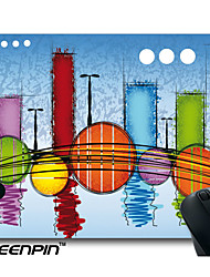 SEENPIN Personalized Mouse Pads Color City Figures Geometry Design