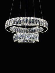 LED Crystal Chandeliers Lights Modern Lighting Two Rings D3050 K9 Large Crystal Home Ceiling Light Fixtures