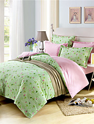 Green Floral Duvet Covers Cotton