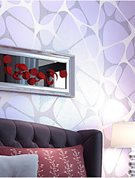 wallpaper géométriques Birds Nest dessins avec de la poudre d'or mur de couleur violet finition domaines de l'art non-tissé mur de papier