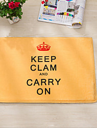"Bath Mat Modern Flannel Keep Calm W16"" x L24"""