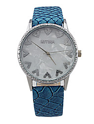 Women's Fashion Fritillaria Circular Alloy Dial PU Leather Strap Quartz Movement Wrist Watches(Assorted Colors)