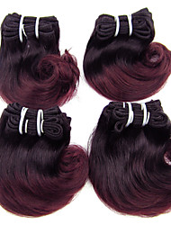 Natural Color Hair Weaves Brazilian Texture Wavy 1 Piece hair weaves