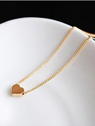 Necklace Pendant Necklaces Jewelry Wedding Party Daily Casual Heart Fashion Alloy Women 1pc Gift Gold