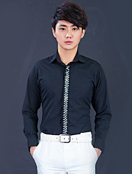 Black Cotton Tailorde Fit Shirt