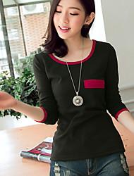 Normaal - Medium - Casual - T-shirt ( Katoen )met Lange mouw