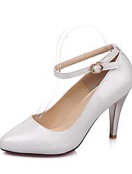 Chaussures Femme - Habillé - Noir / Blanc - Talon Aiguille - Talons / Bout Pointu - Talons - Paillette