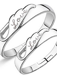 Sterling Silver Ring Couple Rings Wedding/Party/Daily/Casual 1pc