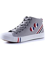 Flascher Absatz - Baumwolle - FRAUEN Runde Zehe/Roller Skate Schuhe - oxfords ( Schwarz/Blau/Rot/Weiß/Grau )