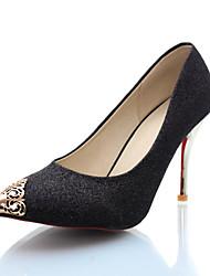 Stiletto - Kunstleder - FRAUEN Spitze Zehe - Pumps / High Heels ( Schwarz/Blau/Silber/Gold )
