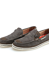 Men's Shoes Casual Canvas Boat Shoes Blue/Green/Gray