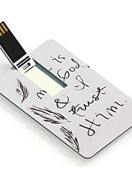 4gb hij is mijn god ontwerp kaart usb flash drive